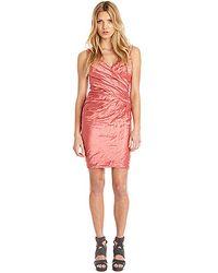 Nicole Miller Techno Metal Dress - Lyst