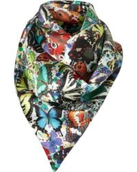 Topshop My Butterfly Silk Scarf By Beta - Lyst