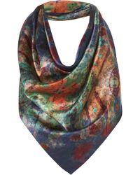 Topshop Underwater Colour Silk Scarf By Beta - Lyst
