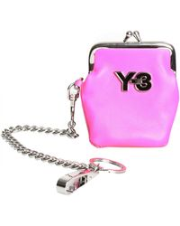 Y-3 Y3 Coin Purse Bright Pink pink - Lyst