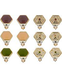 TOPSHOP - Hexagon Earring Multi Pack - Lyst