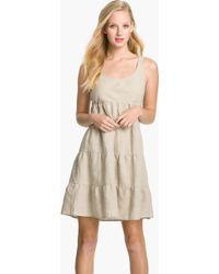 Allen Allen Linen Dress beige - Lyst