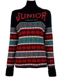 Jean Paul Gaultier Intarsia Logo Sweater - Lyst