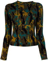Jean Paul Gaultier Camouflage Top - Lyst