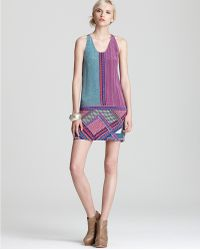 Madison Marcus - Short Dress Geometric Print Sleeveless Scoop Neck - Lyst
