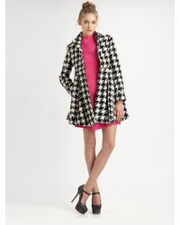 Alice + Olivia Emilia Empire Flare Coat - Lyst