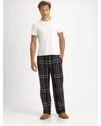 Burberry - Checkprint Pajama Pants - Lyst