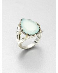Elizabeth And James Semi Precious Multistone Teardrop Ring - Lyst