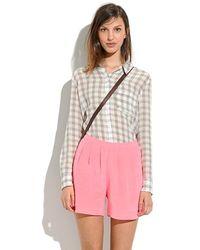Madewell Silk Tap Shorts - Lyst