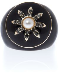 Ziba Vintage Ring with Pearl Star - Lyst