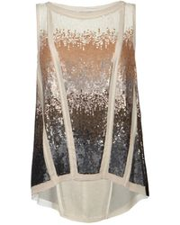 AllSaints Embellished Ombre Vest - Lyst