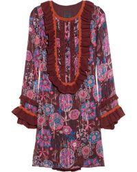 Anna Sui Tropical Bouquet Print Jacquard Tunic multicolor - Lyst