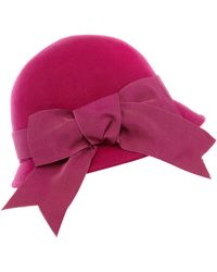 Helene Berman Ribbon Bow Cloche - Lyst