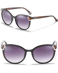 Michael Kors Bradshaw Round Cat Eye Sunglasses - Lyst