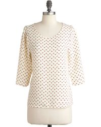 ModCloth Think Sprig Top - Lyst