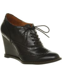 Office Atchu Wedge Black Leather - Lyst