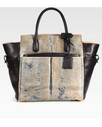 Reed Krakoff Atlantique Mixed Media Top Handle Bag - Lyst