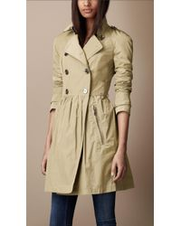 Burberry Brit - Midlength Gathered Skirt Trench Coat - Lyst