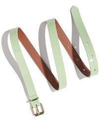 Madewell Skinny Patent Belt - Lyst
