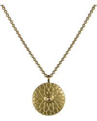 Me&Ro - Gold Small Lotus Mandala Amulet with Indian Diamond - Lyst