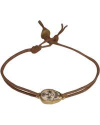 Me&Ro | Gold Small Scrimshaw Skull Bracelet | Lyst