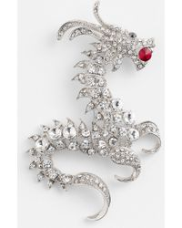 Natasha Couture Dragon Brooch - Lyst