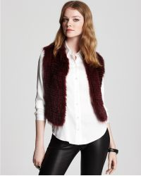 Theory  Himiney Fur Vest - Lyst