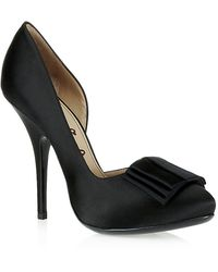 Lanvin Bow Embellished Pumps - Lyst