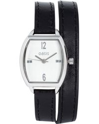 Oasis -  Tonneau Leather Strap Watch - Lyst