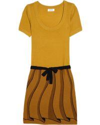 Sonia by Sonia Rykiel Trompe Loeil Wool Sweater Dress - Lyst