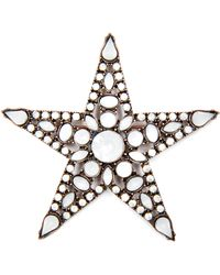 Mango -  Star Brooch - Lyst