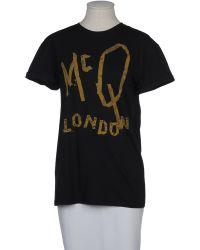 McQ by Alexander McQueen Short Sleeve Tshirt black - Lyst