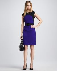 Milly Ella Belted Colorblock Dress - Lyst