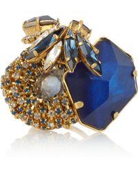 Erickson Beamon - Envy Oversized Swarovski Crystal Ring - Lyst