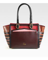 Christian Louboutin Farida Colorblock Top Handle Bag - Lyst