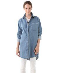 Maison Margiela Oversized Denim Shirt - Lyst