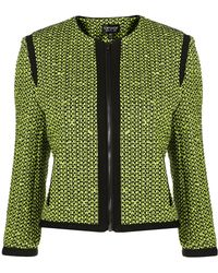 Topshop Coord Fluro Boucle Jacket - Lyst