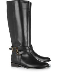 Burberry - Leather Riding Boots - Lyst