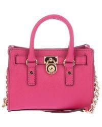 Michael Kors Mini Hamilton Bag pink - Lyst