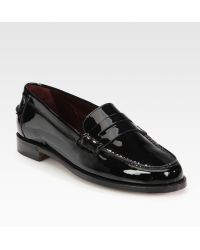 Ralph Lauren Collection Irina Patent Leather Loafers - Lyst