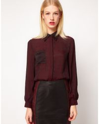 ASOS Collection Asos Shirt with Geo Jacquard - Lyst
