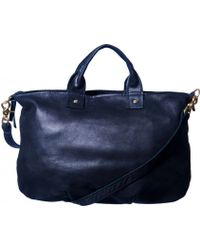 Clare V. Messenger Bag In Navy - Lyst