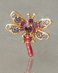 Jay Strongwater Brooks Dragonfly Tack Pin - Lyst