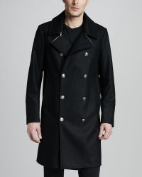 Just Cavalli - Doublebreasted Coat - Lyst