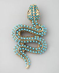 Kenneth Jay Lane Snake Pin - Lyst