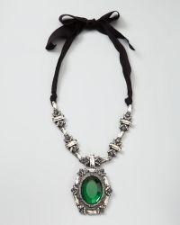 Lanvin Crystal Pendant Necklace - Lyst