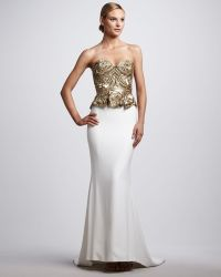 Marchesa Couture Beaded Corsettop Gown - Lyst