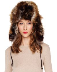 Michael Kors - Fox Patchwork Trapper Hat - Lyst