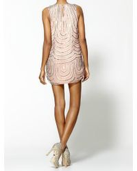Parker Light Loopy Beading Silk Tank Dress - Lyst
