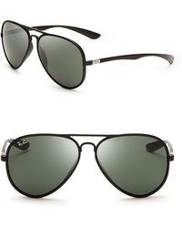 Ray-Ban Thermoplastic Aviator Sunglasses black - Lyst